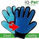 iQ-Pet Fellpflege-Handschuh | 2 Seiten: Gummi + Mikrofaser