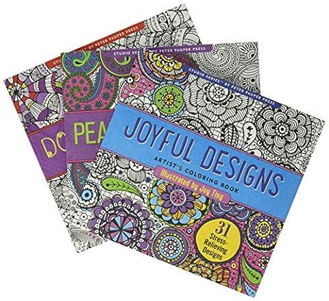 Adult Coloring Book Value Pack (Doodle, Joyful & Paisley) 3 Pack