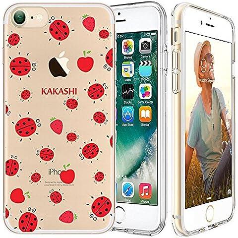 iPhone 7 Custodia,Apple iPhone 7 (4.7 inch) Custodia,Richoose iPhone 7 TPU [Slim Fit] Cancella TPU Gel Della Gomma Custodia Protettiva,Cassa del Respingente Crystal Clear Trasparente Custodia Protettiva per iPhone 7 4.7 inch - Ladybug