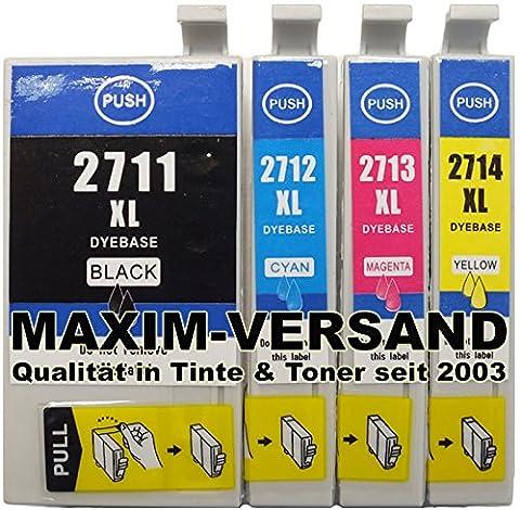 Kit de 4cartouches de nettoyage compatible Epson Multipack 27XL (Nettoie encre canaux de la T2711, T2712, T2713, T2714) compatible Epson Epson WorkForce WF-701536003620Workforce WF-70153640WF/7110DTW Workforce WF-701576007610DWF/7620DTWF