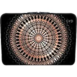 Neopren huelle Laptop 13.3 inch - Roségold Schwarz Mandala by Nina Baydur