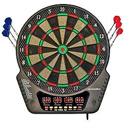 HUDORA Elektronik-Dartboard LED 04 - Dart-Scheibe elektronisch - 77034
