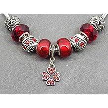 1c8878b55c07 Collar de acero inoxidable Charms Thurcolas modelo Manhattan con colgante  en forma de trébol con cristales