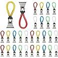 TANCUDER 30 stuks handdoekhouders clip metalen theedoeken haak kleurrijke handdoekklemmen doek hangend clips multifunctioneel