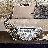XOYOYO Cenicero creativo europeo modelo Cenicero Cristal Room decoraciones muebles para el hogar moda personalidad Elefante Grande Adornos, Antigüedades Cenicero elefante