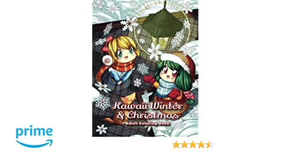 Spanische Weihnachtsbilder.Kawaii Winter Christmas Adult Coloring Book A Winter Coloring