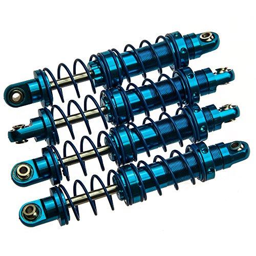 ZuoLan 4pcs 90mm Bleu Aluminium Amortisseur Damper Set pour RC rock Crawlers Voitures de voitures D90 SCX10