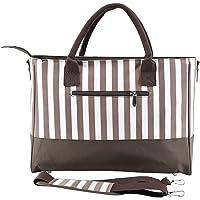 Jitong Schick Handtasche Wickeltasche für Baby Gestreifte Umhängetasche Windeltasche Pflegetasche mit Reißverschluss…
