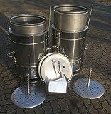 120 Liter Dämpfer/Kochkessel vollständig aus Edelstahl und inkl. Dampfverteiler