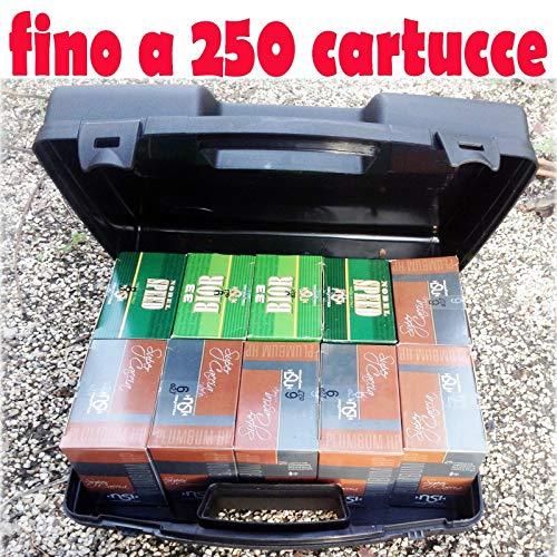 Generico Valigetta in plastica Porta cartucce Calibro 12 e 20 Valigia Contenitore Borsa