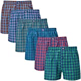 Charles Wilson 6er Packung Gewebte Boxershorts (Multi Check Type 31, Medium)