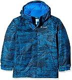 Columbia Chaqueta impermeable para niño, Twist Tip Jacket, Nailon, Azul (Super Blue Grain Print), Talla M, 1560731