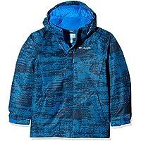 Columbia Chaqueta de Esquí, Niños, Twist Tip, Azul (Super Blue Grain Print), M