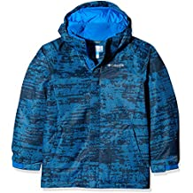 Columbia Chaqueta impermeable para niño, Twist Tip Jacket, Nailon, Azul (Super Blue