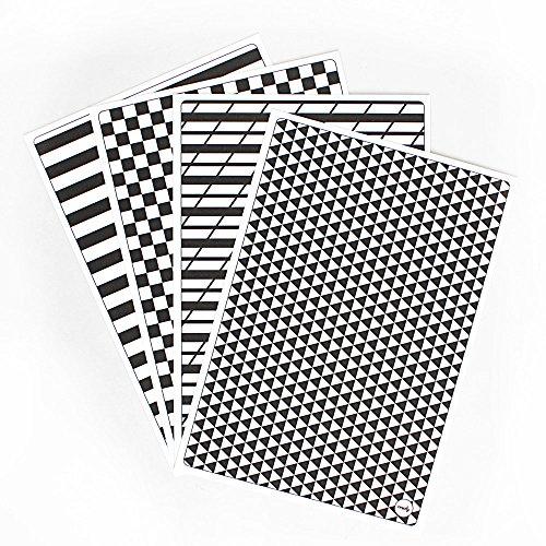 Creoly 4er-Paket Notizbuchvorlagen - liniert, kariert, isometrisch und Schönschrift