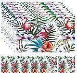 Plastik Tischset Flamingo Abwaschbare Tischsets Abwaschbar Platzsets abwaschbar kunststoff 6er Set Stil 1