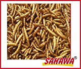 SAHAWA 38000 Mehlwürmer getrocknet, Schildkrötenfutter, Reptilienfutter, Igelfutter, Vogelfutter, proteinreich, Winterfutter (5000 ml)