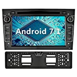 YINUO 7 Zoll 2 Din Android 7.1.1 Nougat 2GB RAM Quad Core Autoradio mit Bluetooth Moniceiver DVD GPS Navigation für OPEL Vauxhall Astra Antara Vectra Corsa Zafira Schwarz (Autoradio mit Kamera 4)