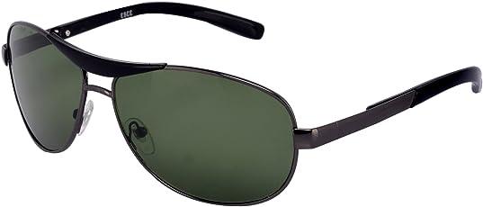 Silver Kartz Unisex Oval Sunglasses(wy072, 40, Green)