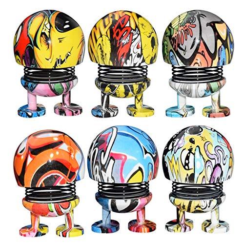 QSBY Umweltfreundliches Material Geschmack Graffiti-Frühlingsspielzeug Macht Menschen glücklich Bouncing Graffiti-Puppe im Spielzeug fürs Auto Indoor-Fun-Zubehör Puppeninhalt 3-TLG (Fun-auto-zubehör)