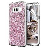 OKZone Galaxy S8 Plus Hülle, Luxus Glitzer Bling Designer Weich TPU Bumper Case Silikon Schutzhülle Handy Tasche Rückseite Hülle Etui Cover TPU Bumper Schale für Samsung Galaxy S8 Plus (Rosa)