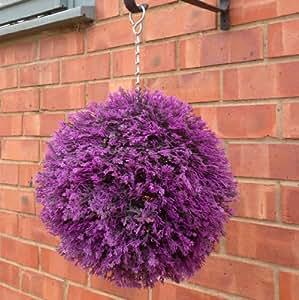 Artificielle Heather topiaire boule Violet 25cm