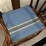ZHAS Chinesische rutschfeste Dining Chair Pads, Mahagoni Massivholz Stuhl Sofa Kissen klassische Baumwollstoff - B 44 x 50 cm (17 x 20 Zoll)