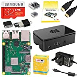 CanaKit Raspberry Pi 3 B+ (B Plus) Complete Starter Kit - UK Edition (32 GB Samsung EVO+)