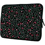 """Snoogg Colorful Flowers 15"""" 15.5"""" 15.6"""" Inch Laptop Notebook Slipcase Sleeve Soft Case Carrying Case For MacBook Pro Acer Asus Dell Hp Sony Toshiba"""