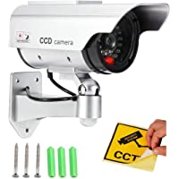 SAMPLUS MALL (LABEL) Realistic Looking Dummy Security CCTV Fake Bullet Camera With Flashing LED Light Indication