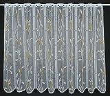 Scheibengardine Raffrollo Blätterranke 90 cm hoch | Breite der Gardine durch gekaufte Menge in 15 cm Schritten wählbar (Anfertigung nach Maß) | weiß terra gelb | Vorhang Küche Wohnzimmer