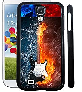 ColourCraft Water and Fire Guitar Design Back Case Cover for SAMSUNG GALAXY S4 I9500 / I9505