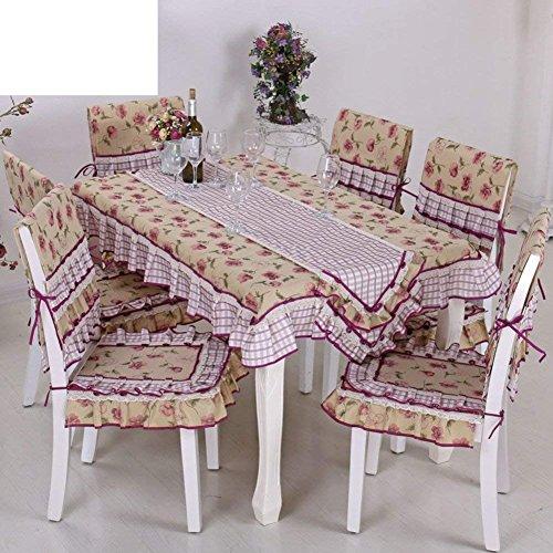 DEED Tischdecke-Outdoor Couchtisch Tischdecke Stoff Wohnzimmer Spitze Tischdecke Tischdecke,E, 150x150cm (59x59inch) -