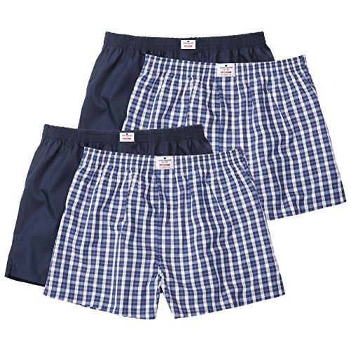TOM TAILOR Herren Boxershorts Web-shorts 2er Pack blue-medium-check (624)