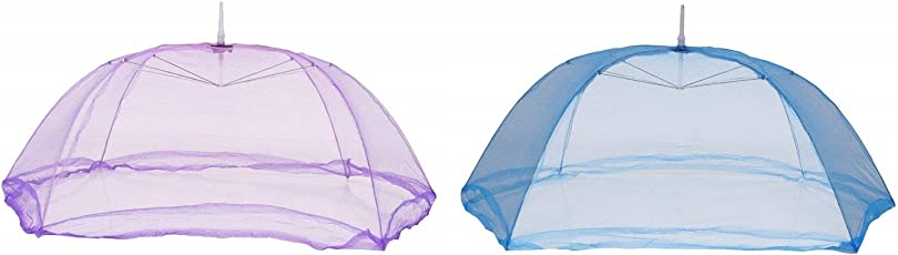 Cloudaby 6 Strings Strong Mosquito net for Baby(0 to 12 Months) (Pack of 2) Colour May Vary