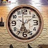 Nordic funi Orologio da parete Drawing-Room retrò orologi orologio American rurali industriali campana del vento creativa pastorale europea,14 pollici,C