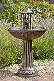 XL 83 Solar Wasser Spiel Garten Brunnen Deko Springbrunnen Zier Brunnen Garten Dekoration wahlweise mit LED Beleuchtung (Tanzendes Paar)