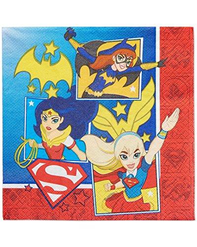 Amscan International 511609 Serviette DC Super Hero Girls, - Halloween-party-dc