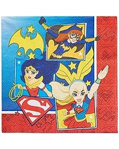 Amscan International-51160933cm DC Super Hero servilleta Niñas