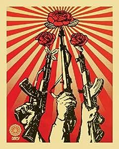 Shepard Fairey – Guns and Roses: Obey Impression d'art Print (40,64 x 50,80 cm)