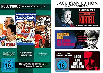6er Hollywood Action Klassiker Collection - Explosion in Kuba + Abenteuer auf der Lucky Lady + The Last American Hero + Das Kar