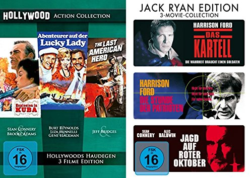 6er Hollywood Action Klassiker Collection - Explosion in Kuba + Abenteuer auf der Lucky Lady + The Last American Hero + Das Kar