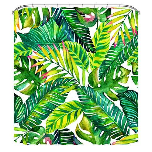 Rideau de douche tropical