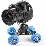 Yaheetech DSLR-Kamerawagen, Mini-Kamerawagen für Kamerafahrt DSLR Video Camcorder
