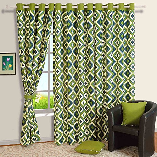 Green Curtains black and green curtains : Modern Black and White Cotton Window Curtains-54 x 60 Inch- Set Of ...