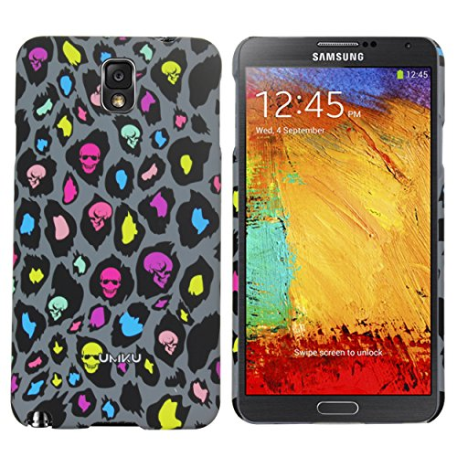 Heartly Leopard Style Printed Design High Quality Hard Bumper Back Case Cover For Samsung Galaxy Note 3 Neo N7500 N7505 - Metal Grey  available at amazon for Rs.249