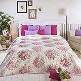 Sancarlos - Colcha bouti diseño florencia morado - relleno ligero - esquinas redondeadas - varias medidas disponibles