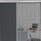 EBTOOLS 82.7pulgadas Pantalla de la Puerta Cortina de Metal Tira de Cadena Decorativa de Aluminio Control de Insectos Parásito Volar