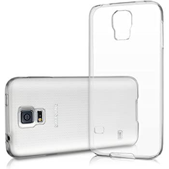 Samsung Galaxy S5 / S5 Neo Hülle Silikon Case - dünne durchsichtige transparente Schutzhülle TPU Cover klar in Transparent Vada-Tec