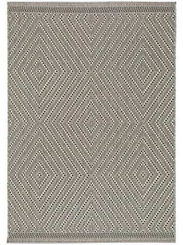 benuta Pflegeleichter Teppich geeignet für Innen- und Außenbreich, Balkon und Terrasse, Kunstfaser, grau, 160 x 230 (Teppich Für Balkon)